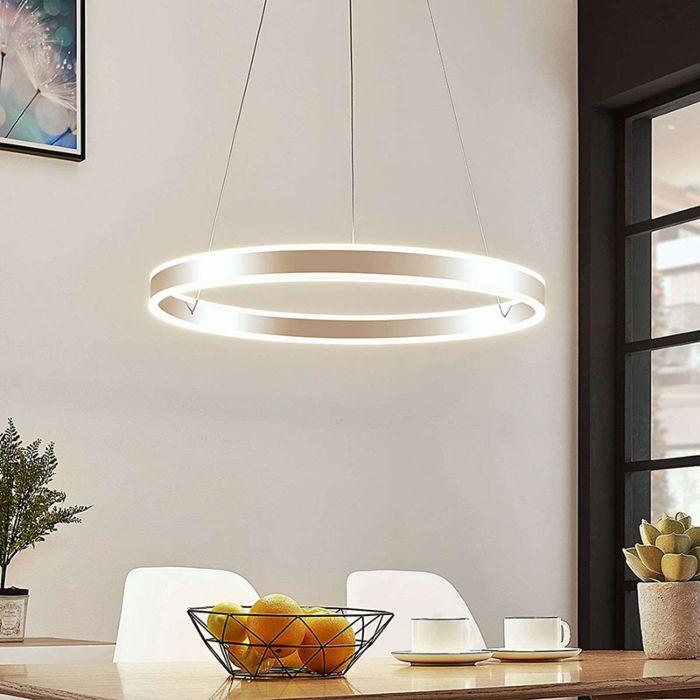 Moderne-hanglamp-chroom-60-cm-incl.-LED-3-staps-dimbaar---Lyani
