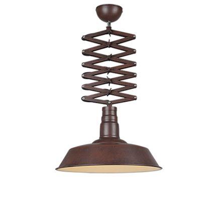 Industriële-hanglamp-roest-met-verstelbare-schaararm---Mancis