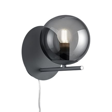 Art-deco-wandlamp-zwart-met-smoke-glas---Flore