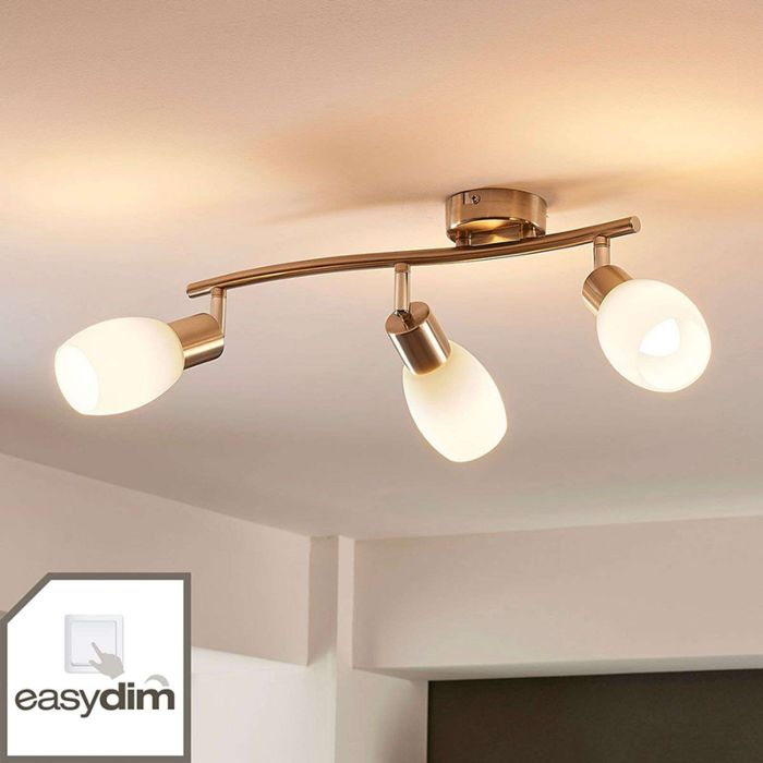 Klassieke-plafondlamp-staal-lang-3-lichts-incl.-LED-en-easydim--Arda