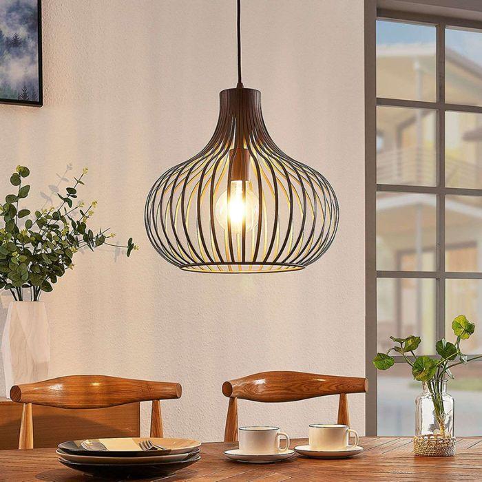 Moderne-hanglamp-bruin-38-cm---Frances