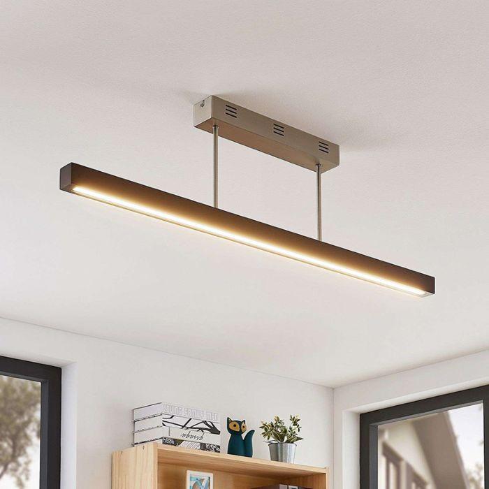 Landelijke-plafondlamp-zwart-incl.-LED---Tamlin