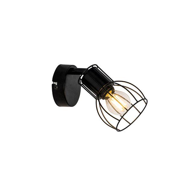 Moderne-wandlamp-zwart-staal-verstelbaar---Botu