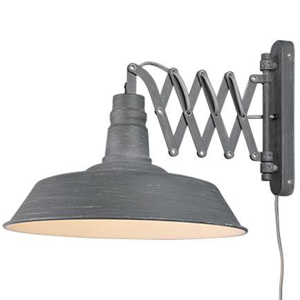 Industriële-wandlamp-grijs-met-uittrekbare-schaararm---Mancis