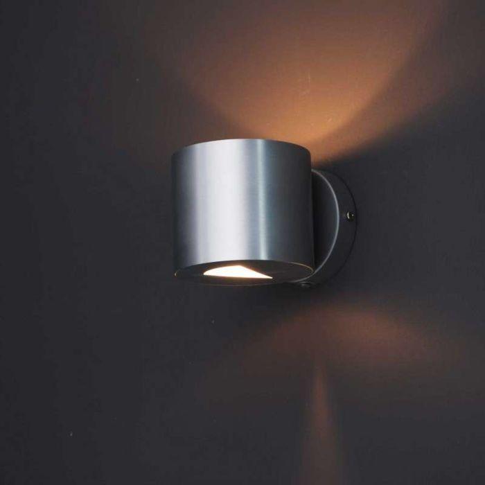 Moderne-wandlamp-aluminium---Effect