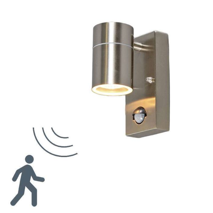 Solo-buitenwandlamp-staal-PIR