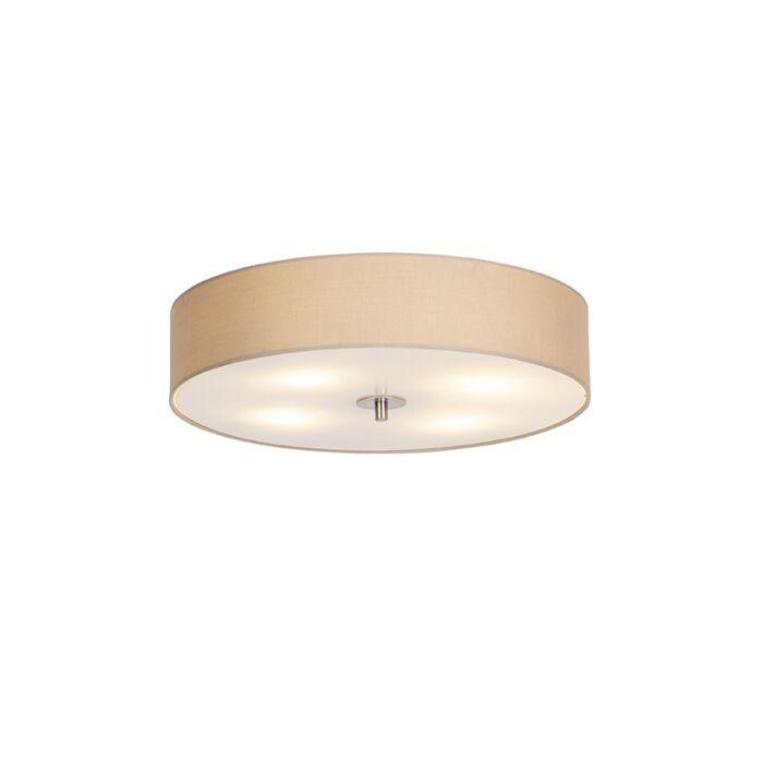 Landelijke-plafondlamp-beige-50-cm---Drum