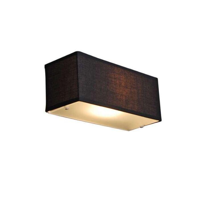 Wandlamp-Drum-rechthoek-zwart