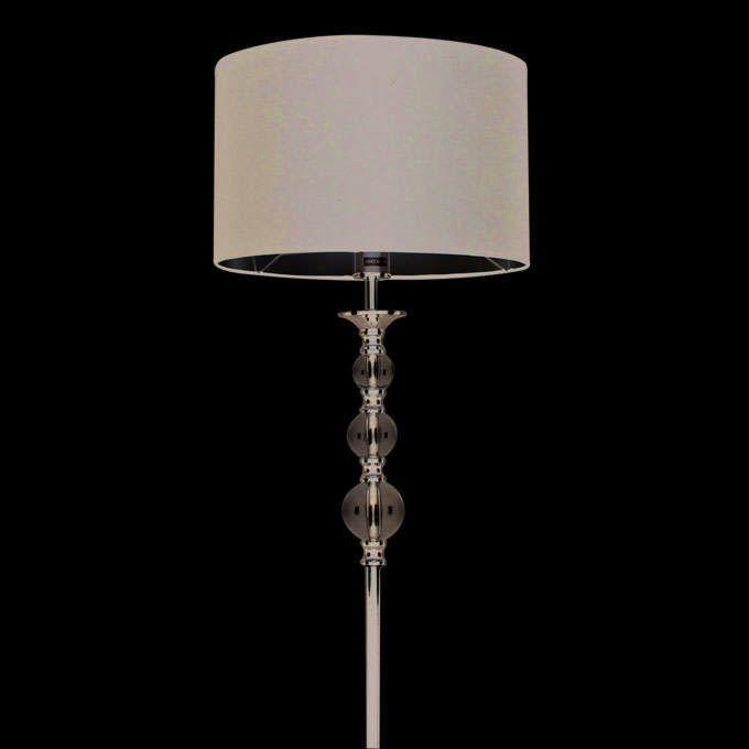 Vloerlamp-Calabash-chroom-met-zwarte-kap