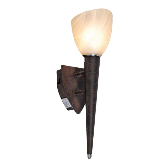 Wandlamp-Shield-roestbruin