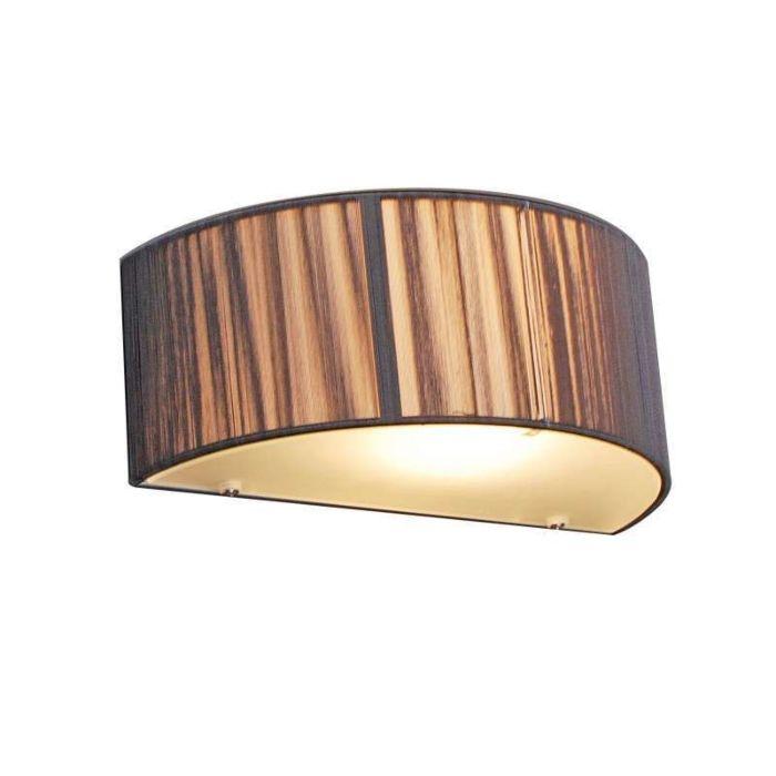 Wandlamp-Rope-half-rond-antraciet