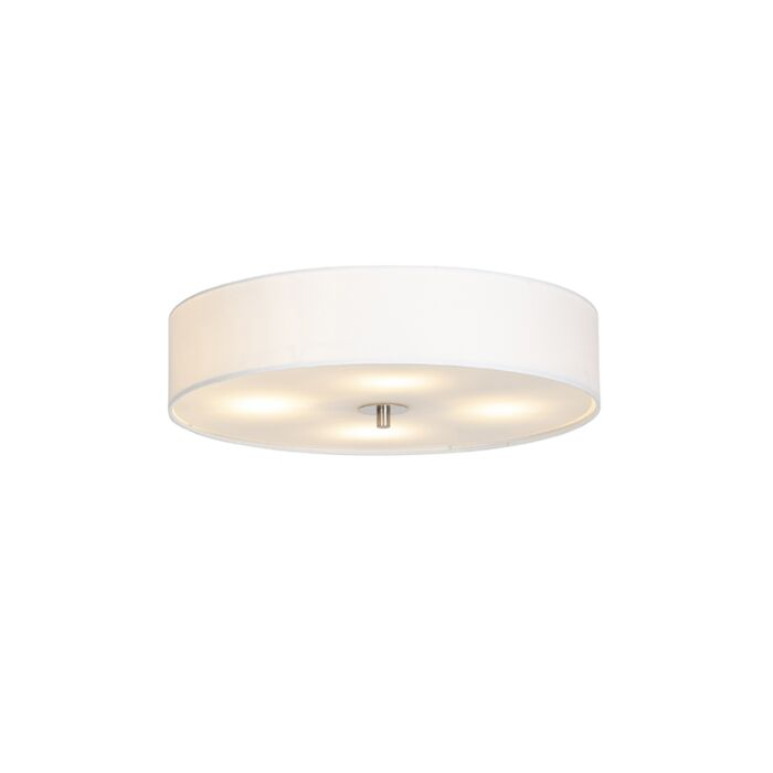 Landelijke-plafondlamp-wit-50-cm---Drum