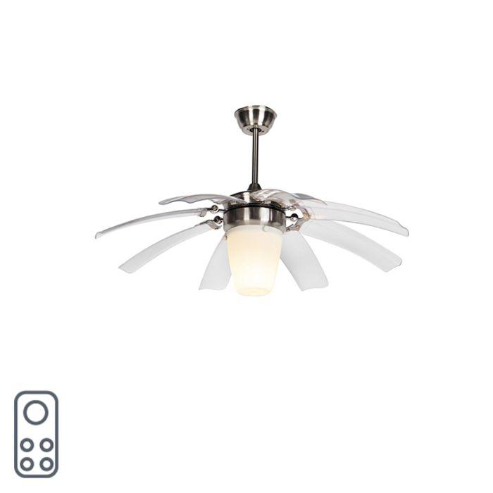 Plafondventilator-zilver-met-afstandsbediening---Wings-42-staal