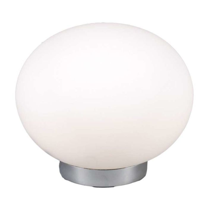 Tafellamp-Ball-24-staal-met-wit-glas