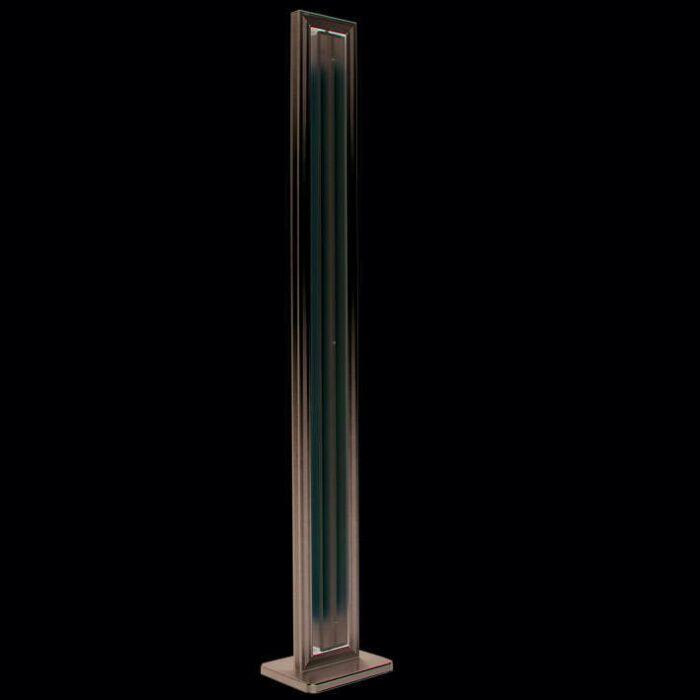 Vloerlamp-Tube-recht-zilver