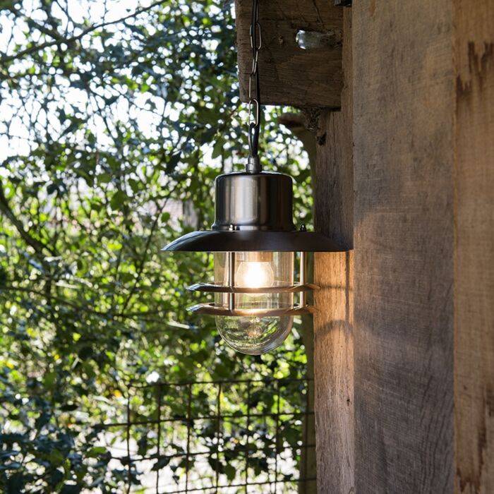 Retro-hanglamp-staal---Shell