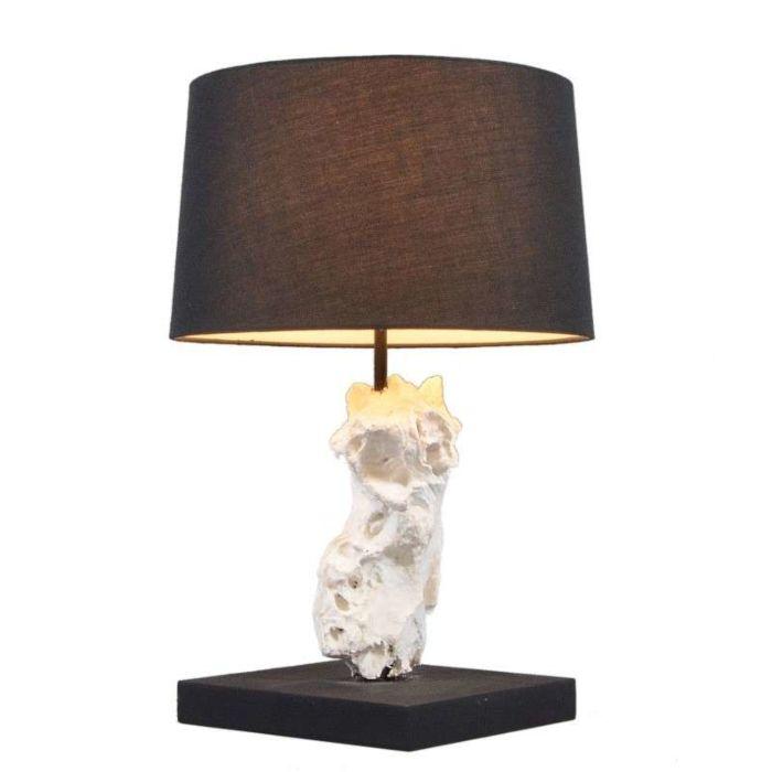 Tafellamp-Kanya-wit-met-kap-zwart
