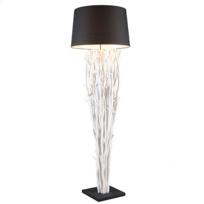 Vloerlamp-Phatom-white-wash-met-kap-zwart