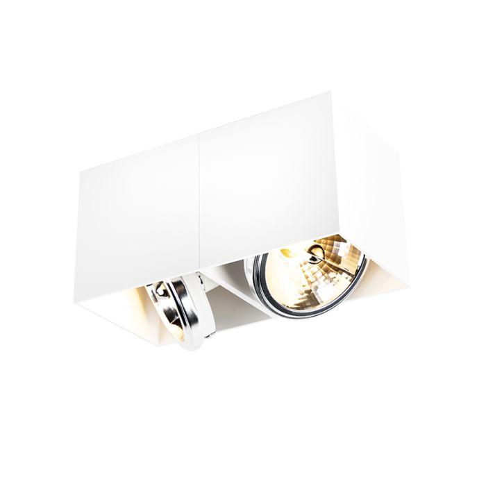 Design-spot-rechthoekig-2-lichts-wit---Box