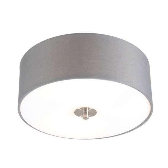 Landelijke-plafondlamp-grijs-30-cm---Drum