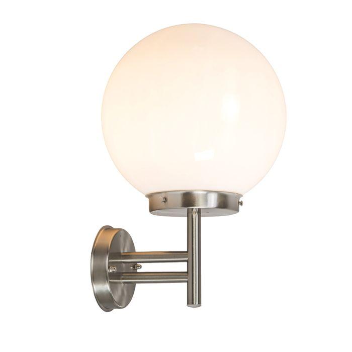 Moderne-buitenwandlamp-staal-RVS-IP44---Sfera