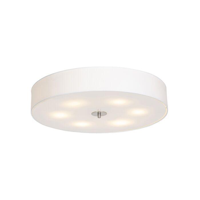 Landelijke-plafondlamp-wit-70-cm---Drum