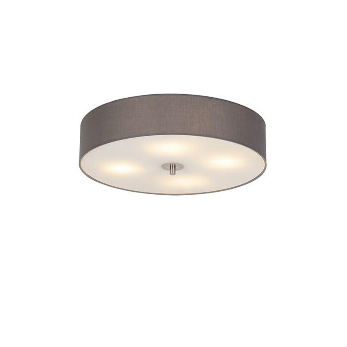 Landelijke-plafondlamp-grijs-50-cm---Drum