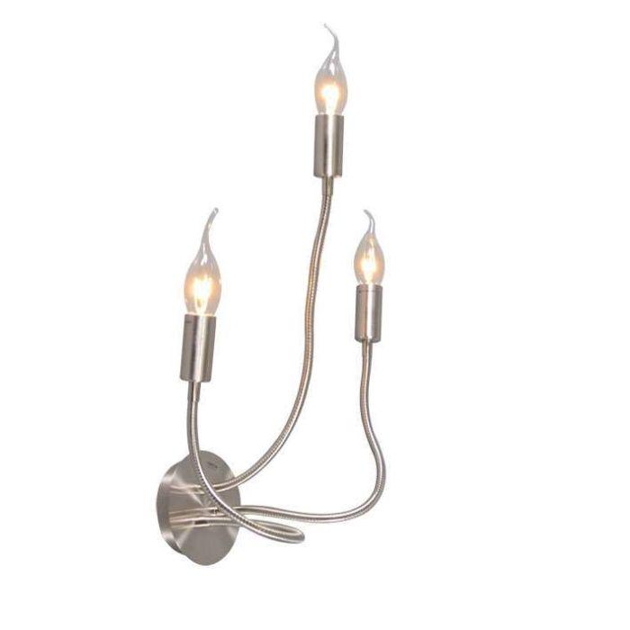 Wand/plafondlamp-Braccia-3-staal