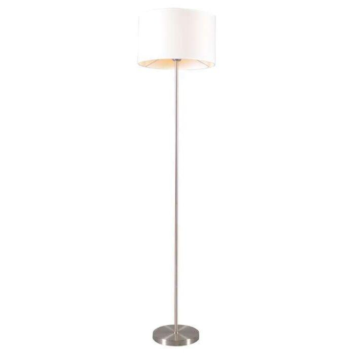 Vloerlamp-Lugar-staal-met-kap-wit