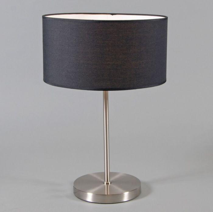 Tafellamp-Lugar-staal-met-kap-zwart