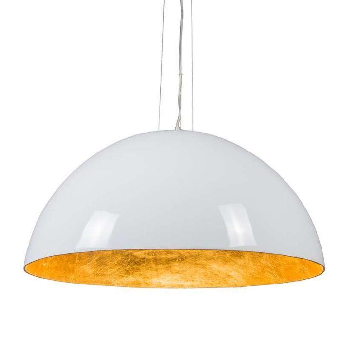Hanglamp-Magna-Glossy-70cm-wit-met-goud