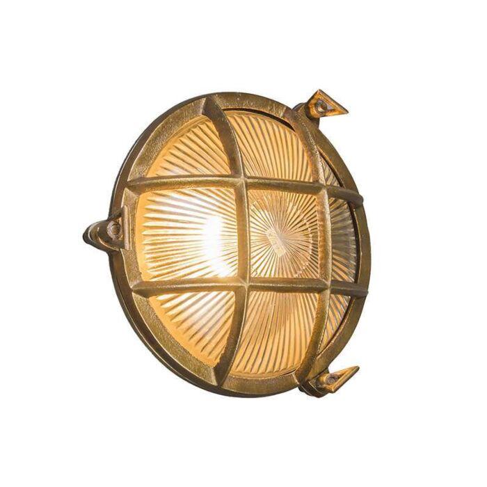 Industriele-wand/plafondlamp-Nautica-rond-goud