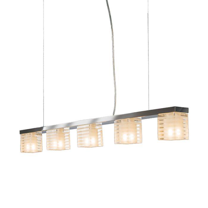 Hanglamp-Dice-5-helder-glas