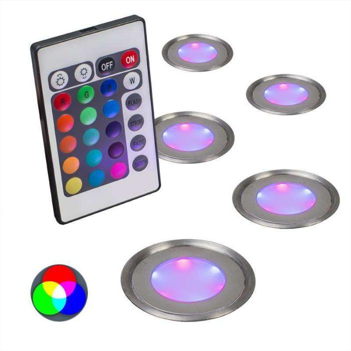 Inbouwset-van-5-Puck-IP67-RGB