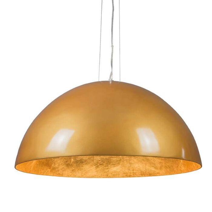 Hanglamp-Magna-Glossy-70cm-goud-met-goud