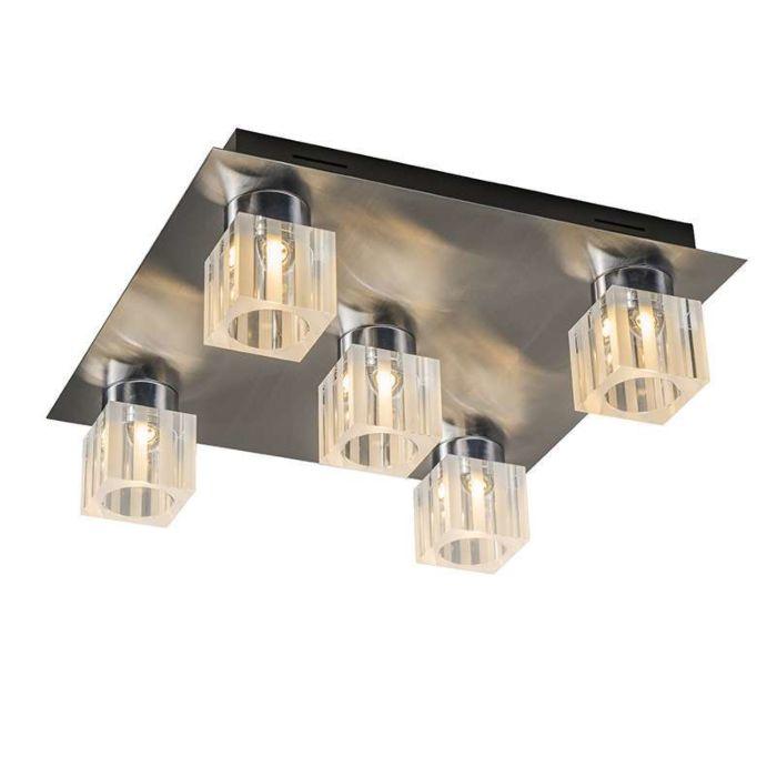 Plafonniere-Dice-5-LED-chroom