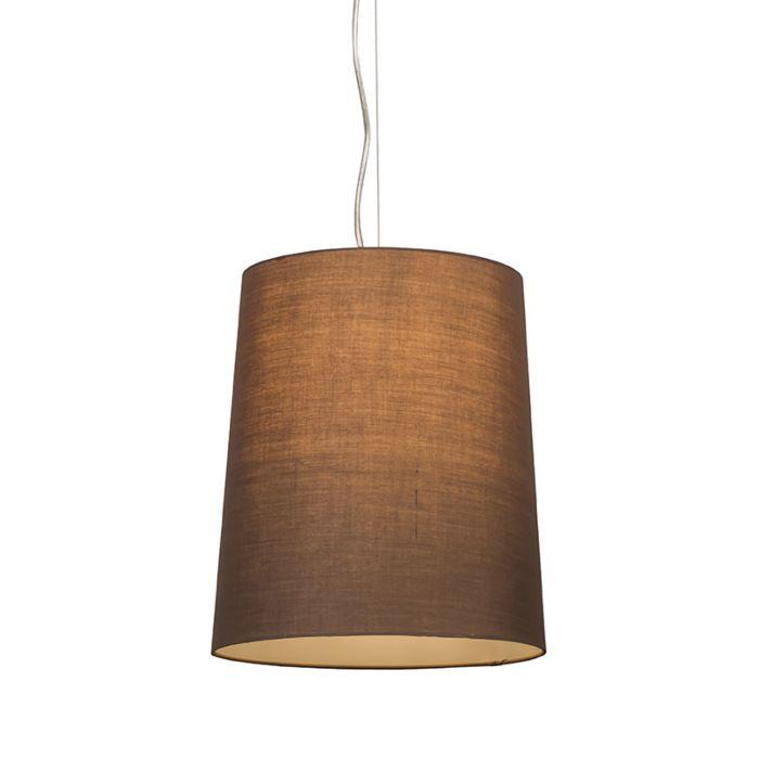 Hanglamp-Cappo-1-met-kap-bruin