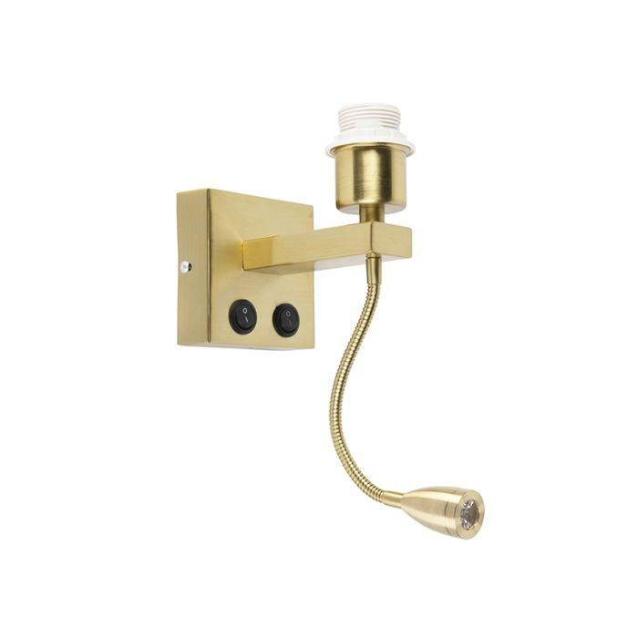 Moderne-wandlamp-goud-met-flexarm---Brescia-Combi