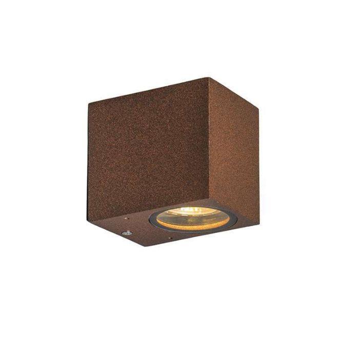 Industriële-wandlamp-roestbruin-IP44---Baleno-I
