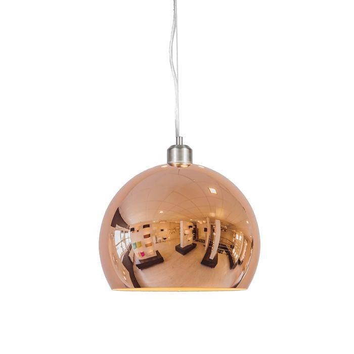 Hanglamp-Globe-28cm-koper