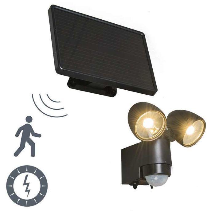 Buitenlamp-VAP-Duo-zwart-met-bewegingsmelder-op-zonne-energie
