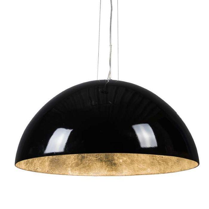 Hanglamp-Magna-Glossy-70cm-zwart-met-zilver