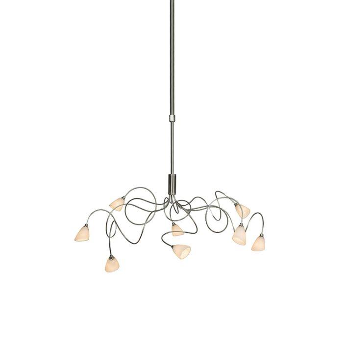 Klassieke-hanglamp-Annabel-8-staal