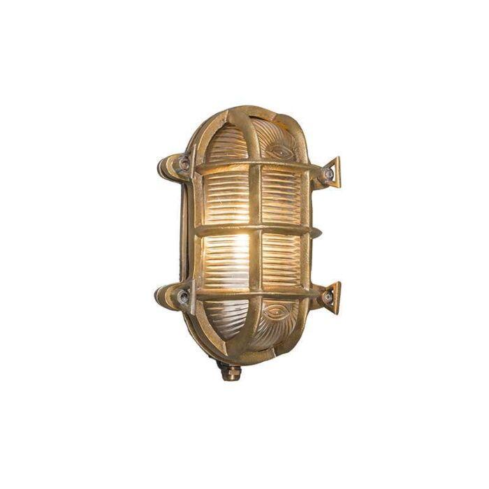 Industriele-wand/plafondlamp-Nautica-ovaal-goud