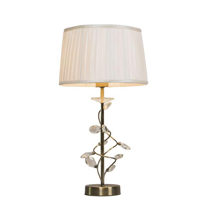 Tafellamp-Ruffle-antiek-brons