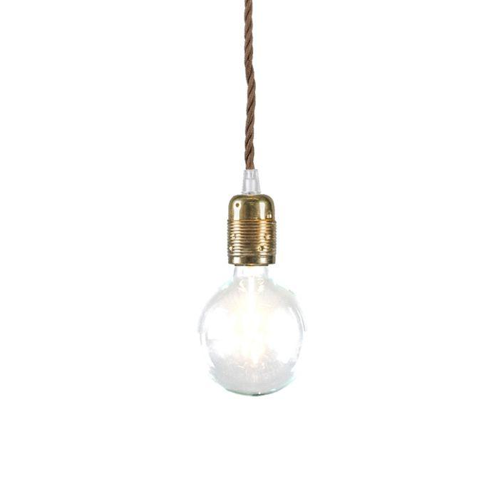 Hanglamp-Cavo-Classic-goud-met-bruin