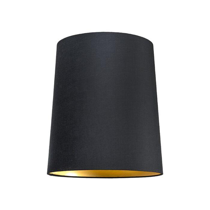 Kap-35cm-rond-SU-E27-zwart-goud