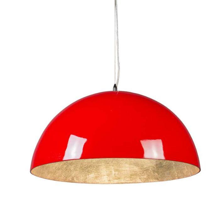Hanglamp-Magna-Glossy-55cm-rood-met-zilver