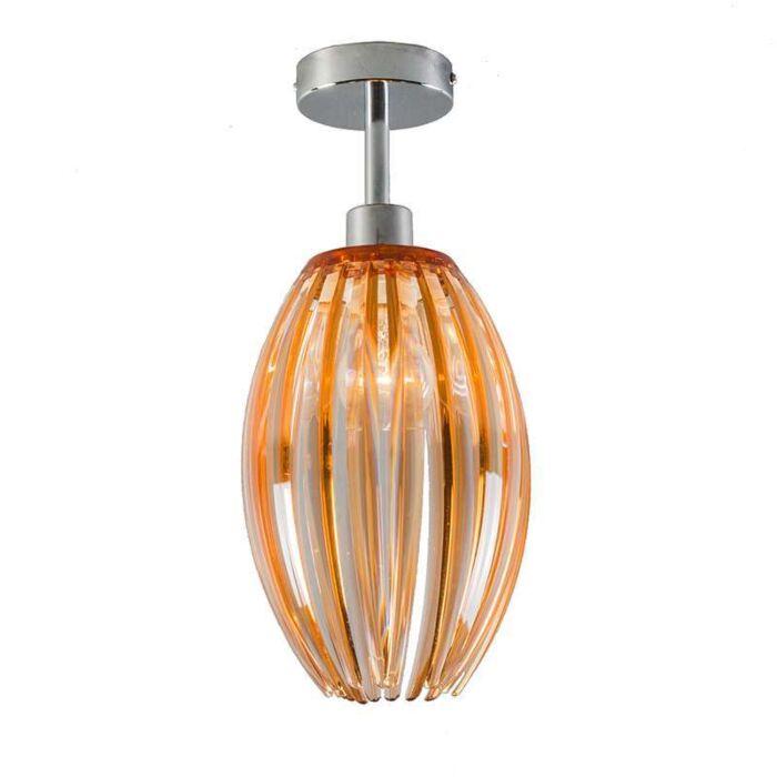 Plafonniere-Jarno-chroom-met-amber