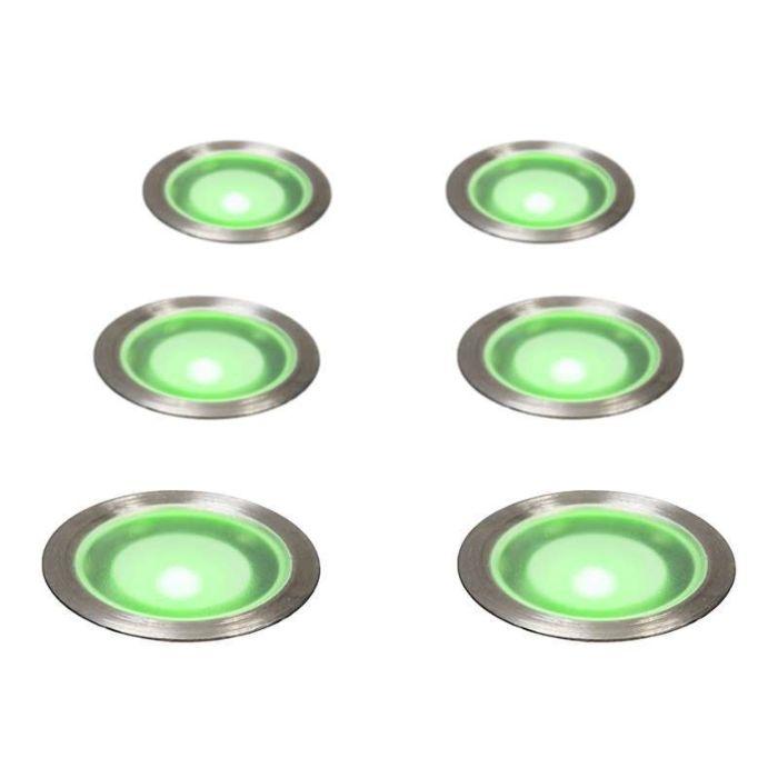 Inbouwset-van-6-Guard-IP67-Groen